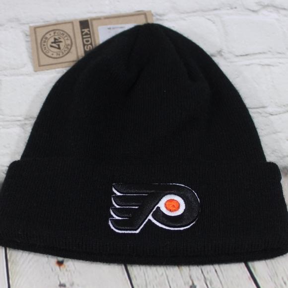 reputable site 1d22f 4e460 Philadelphia Flyers Black Knit Hat 47 Brand kids. NWT. 47 Brand.  M 5bc4f43efe5151a5dc8c0a2b. M 5bc4f43e0cb5aaffe926baf0
